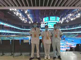 我院为第25届中国大学生乒乓球锦标赛丁组(超级组)提供医疗保障