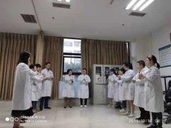 我院超聲科進行洗手培訓